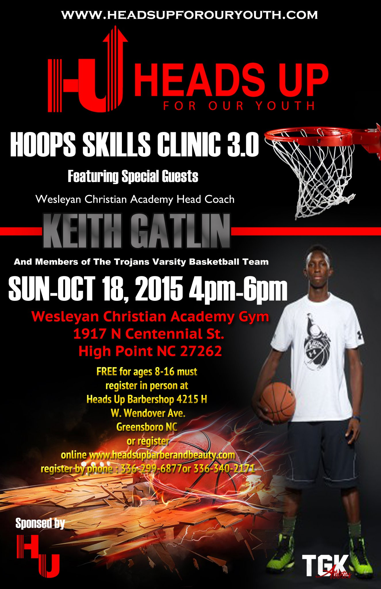 HU/TGK Hoops Skills and Drills Clinic 3.0 Featuring Keith Gatlin